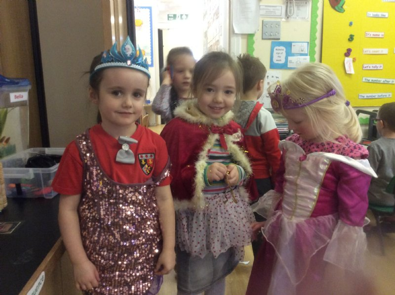 children playing dress up